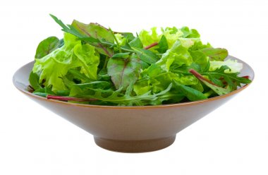 Mixed Salad Greens over white
