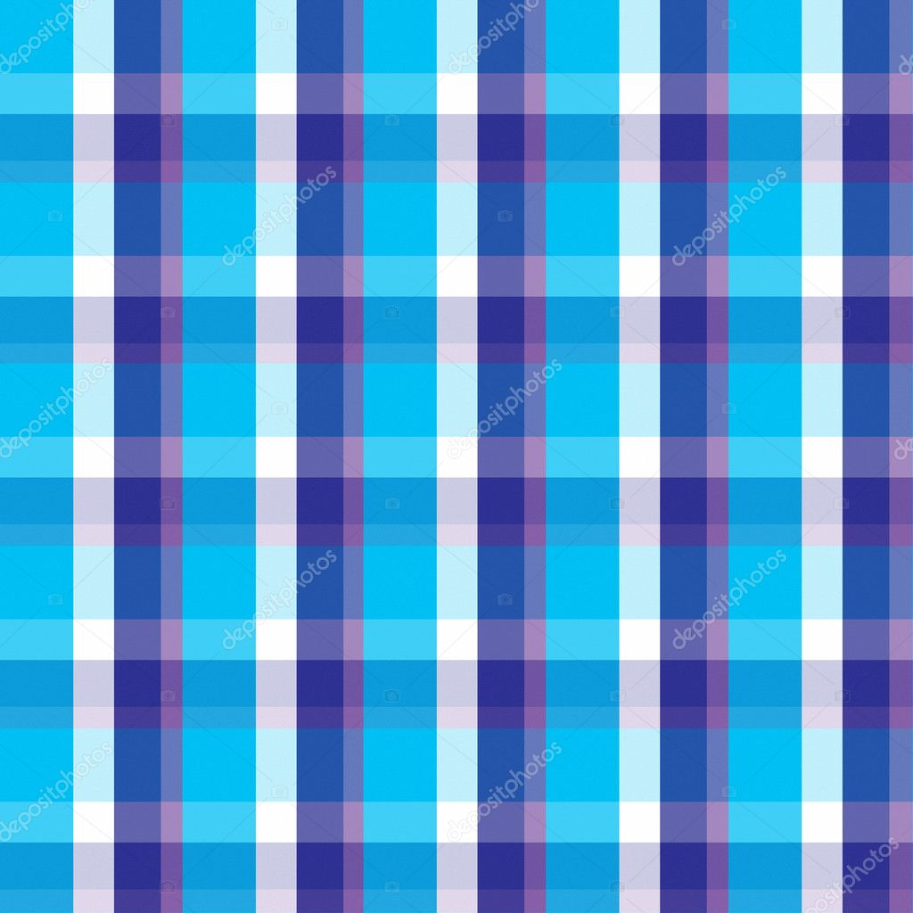 Blue Plaid Seamless Background
