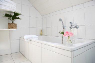 Bathroom detail in white