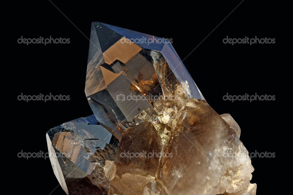 Crystal on black background