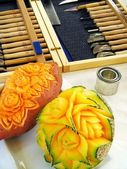Photo Sweet potato and melon - carving
