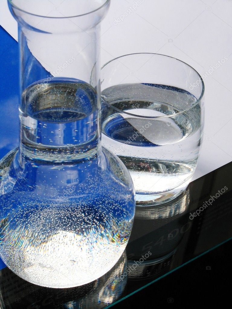 Carafe and glass of water