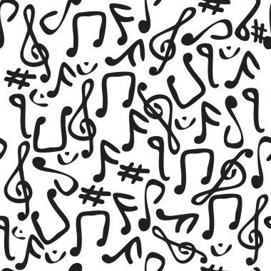 Seamless vector music symbol pattern