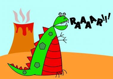 Cartoon Vector Dinosaur