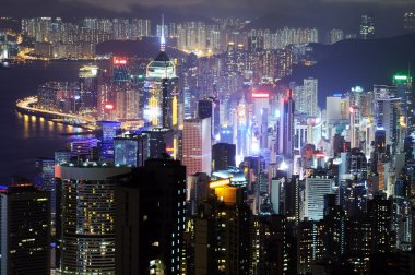 Hong Kong at the night