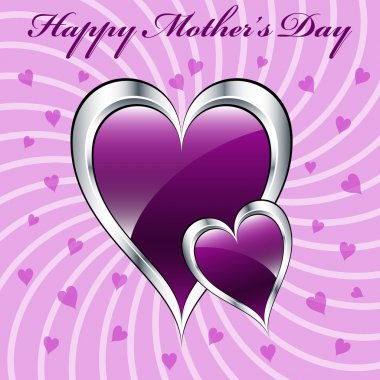 Mothers day purple hearts