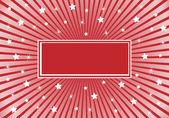 abstrakt rot weiße Sterne