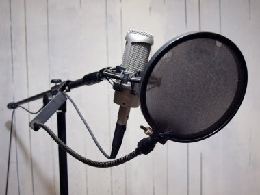 Studio vocal mic & grunge wall 2