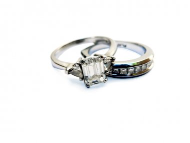 Platinum wedding ring & band