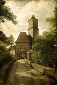středověký hrad v grunge styl