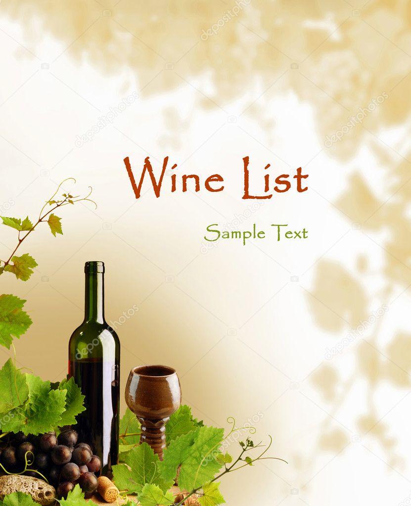Red wine design