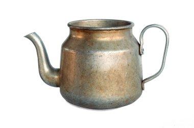 Old aluminium pot