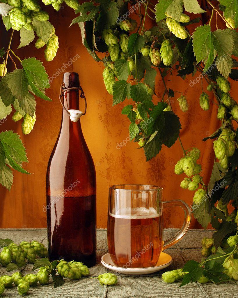 Vintage beer still life