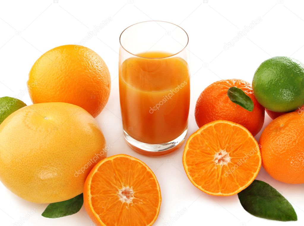 Juice and citrus fruits
