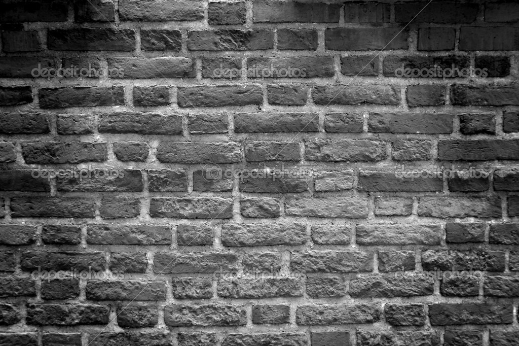Black white tone brick wall stock photo tkemot 2318631 for Black and white wallpaper for walls