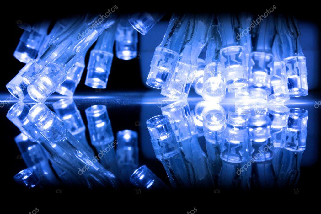 koude blauwe led verlichting close-up — Stockfoto © mreco99 #2373523