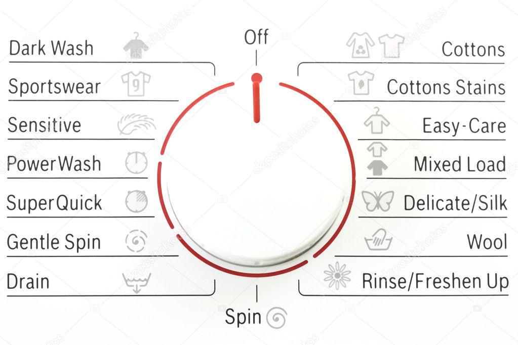 Washing Machine Controls With Symbols Stock Photo Mreco99 2377270