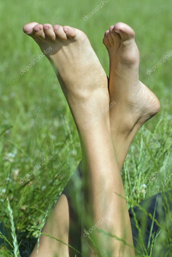 Feet of the person