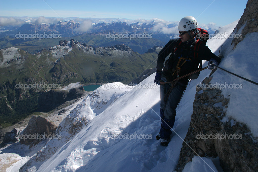 Extreme sport - mountain climbing