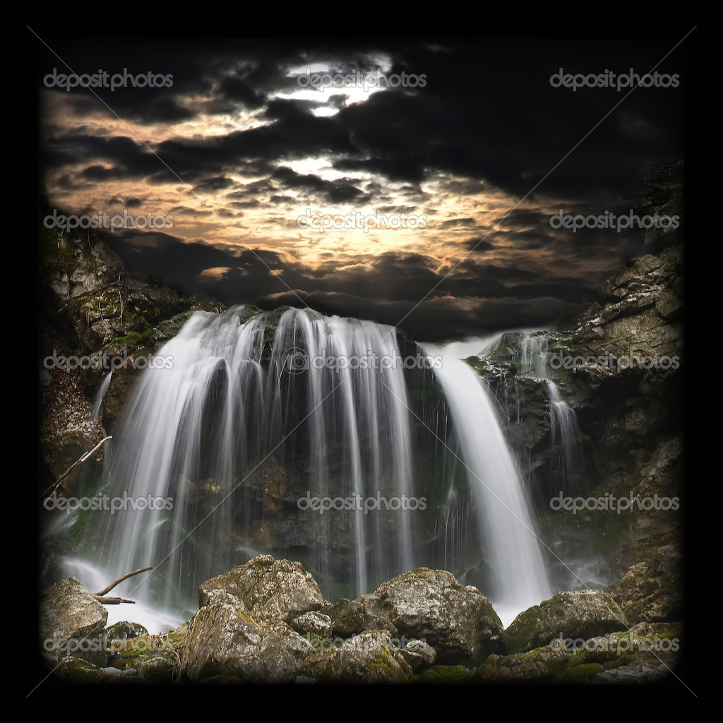 Dramatic waterfall