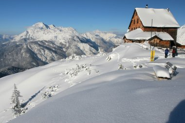 Winter in the mountains - mountain hut