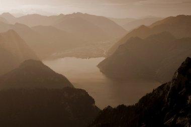 Mountain view, sepia toning
