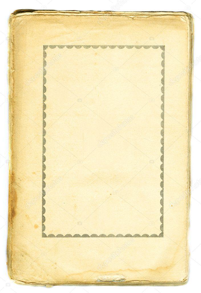 alte buch papier retro gerahmt — Stockfoto © jakubcejpek #2306983