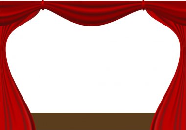 Open curtain - vector