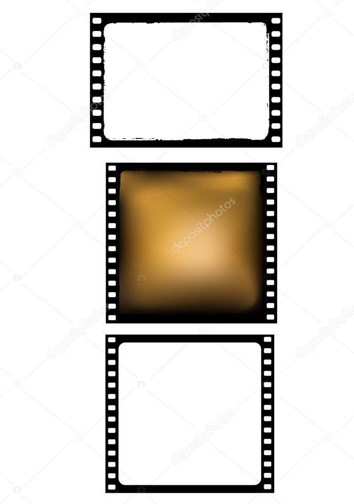varios fotogramas de la película - vector — Vector de stock © siloto ...
