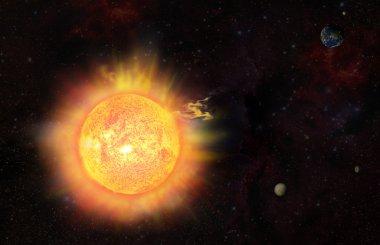 Eruption - solar storm