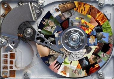 Photos on the hard disc