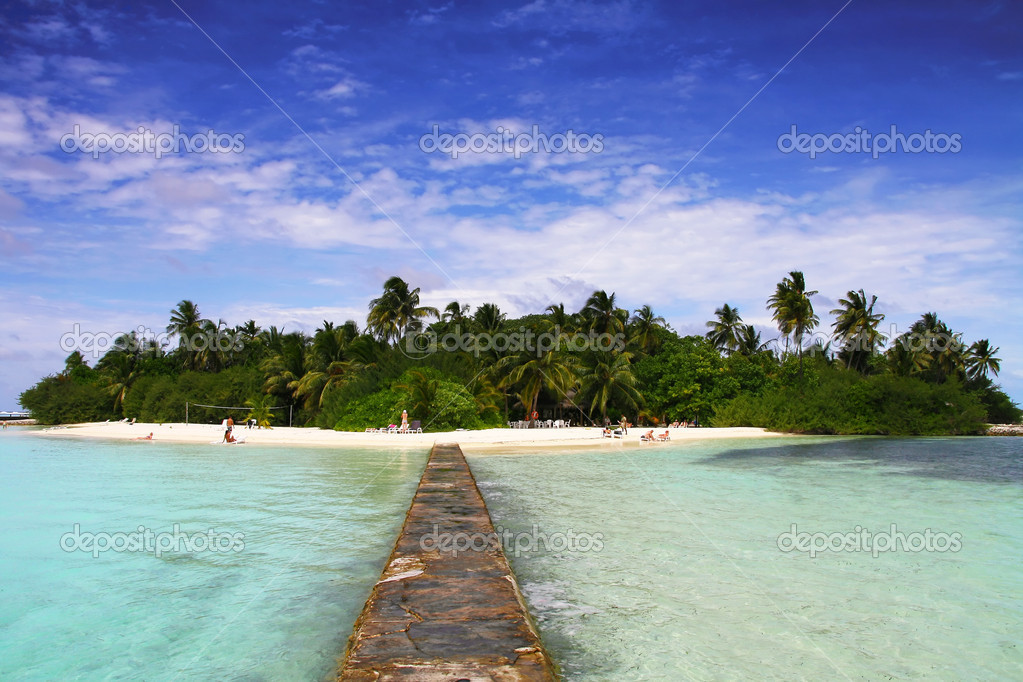 Paradise island of Maldives