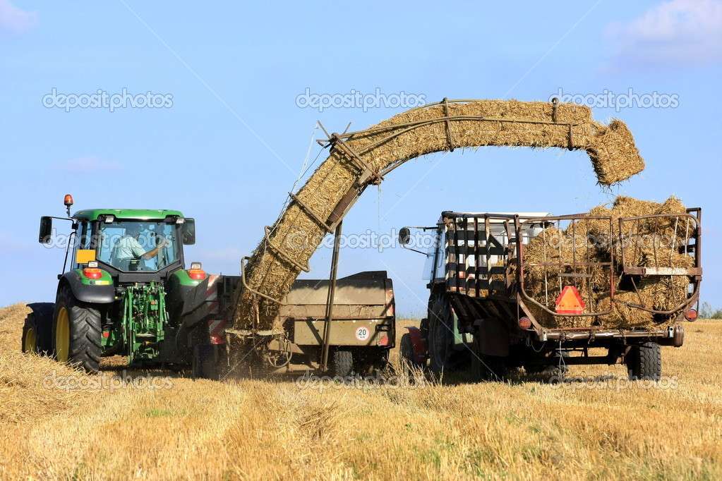 Straw bale and agricultural engineering