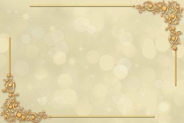 Decorative wedding border or invitation