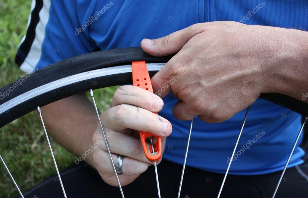 Changing A Bike Tire Stock Photo C Kleyman 2282477
