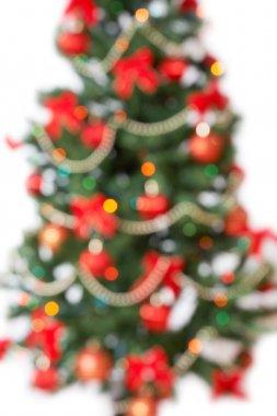 Unfocused christmas tree background