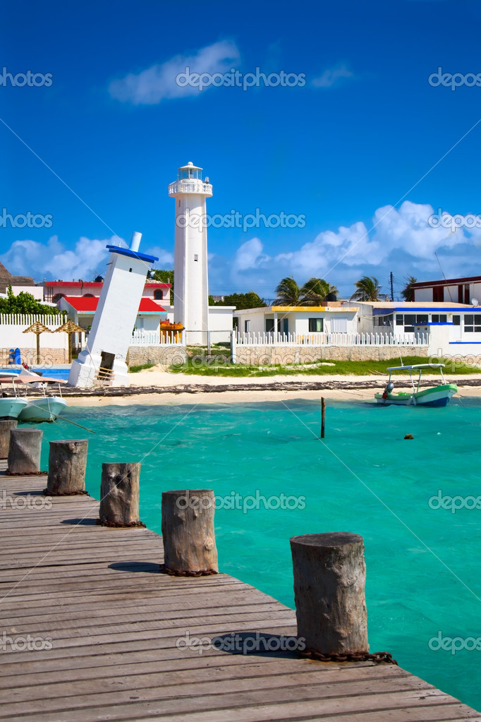 Lighthouses in Puerto Morelos, Mexico