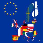 Mapa Evropské unie s 27 příznaky