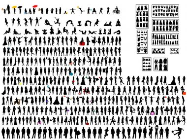 Vector illustration of silhouettes stock vector