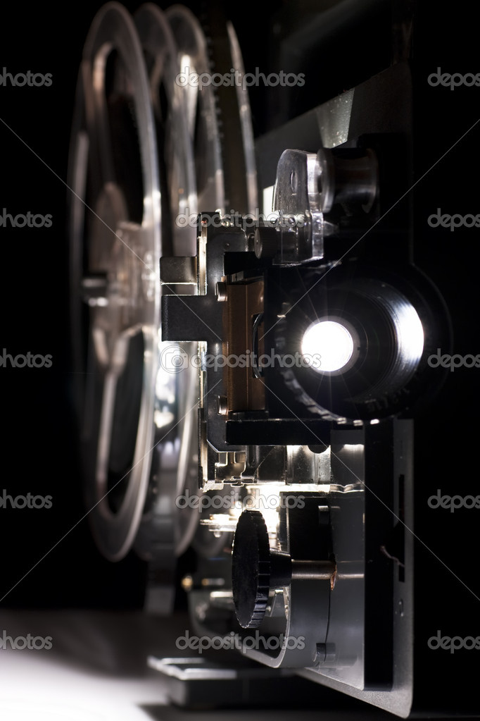 Old Home Cinema Projector Stock Photo