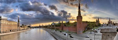 Moscow. View from bridge to the Kremlin