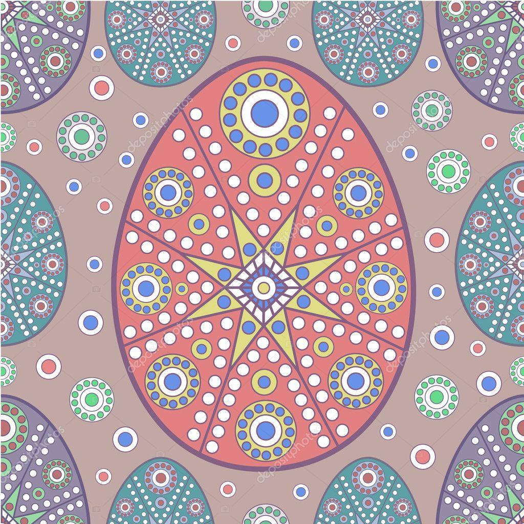 seamless easter egg pattern u2014 stock vector juliet 2636555