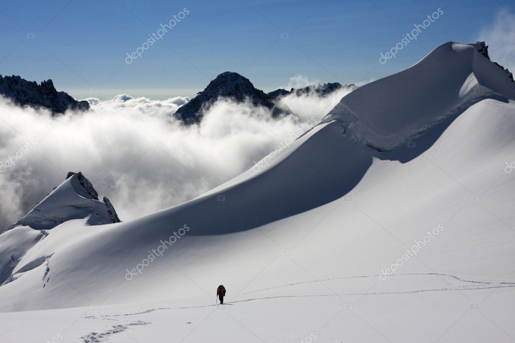 Ascending to the summit, Altai