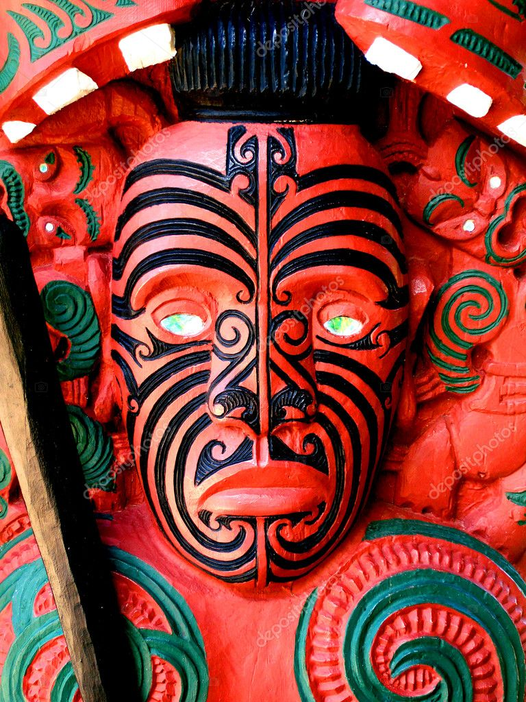 Interior Design For Maori Krieger The Best Of Warrior Carving, New Zealand — Stock Photo