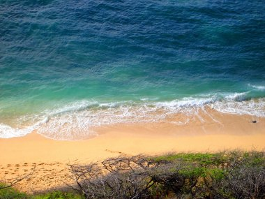 Aerial of Diamond Head Beach Hawaii