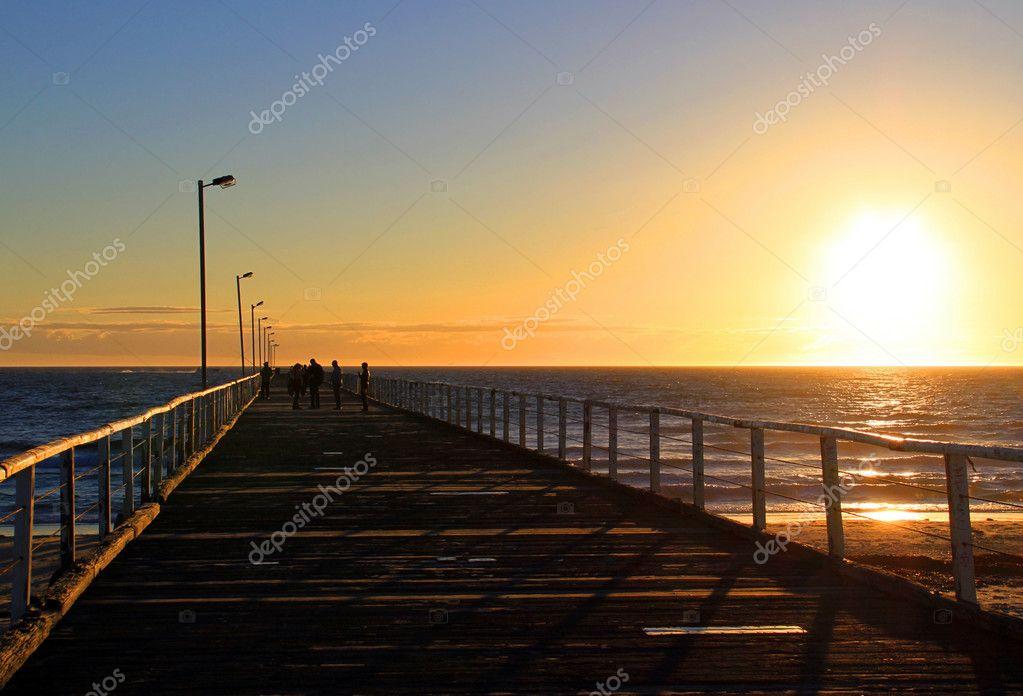 Sunset from Semaphore Jetty, Australia