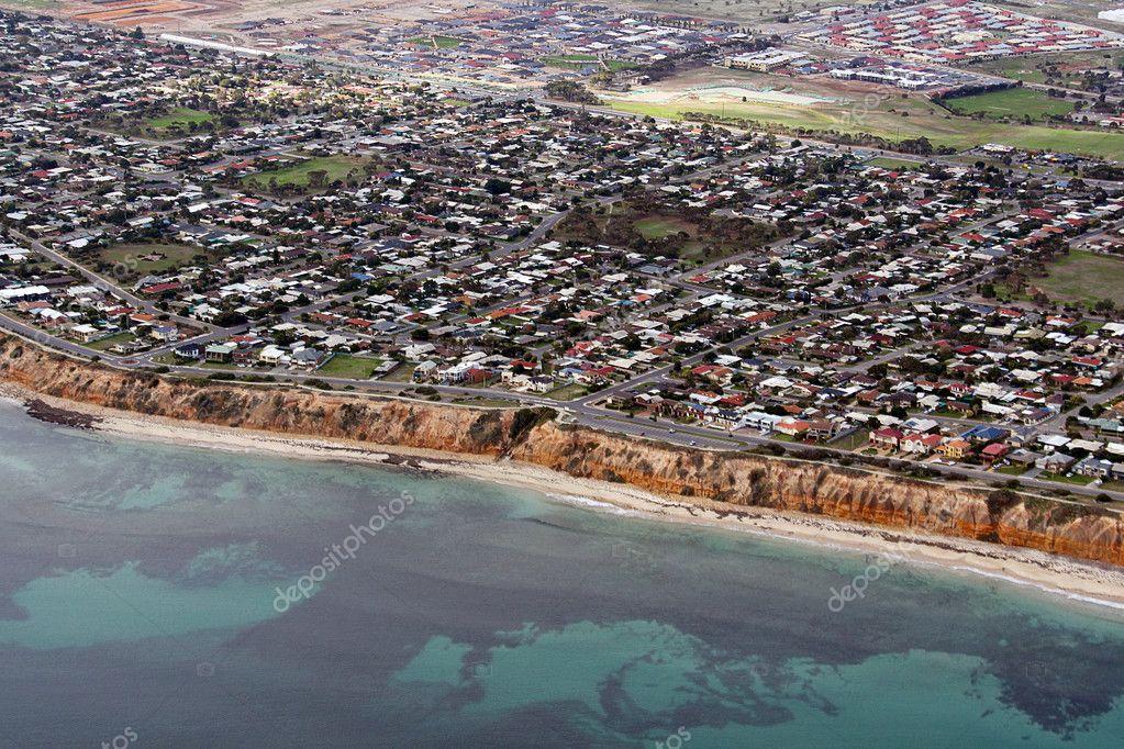 Aerial view of Aldinga Beach, Australia