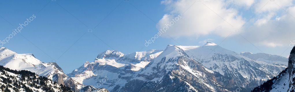 Pyrenees mountain range panorama
