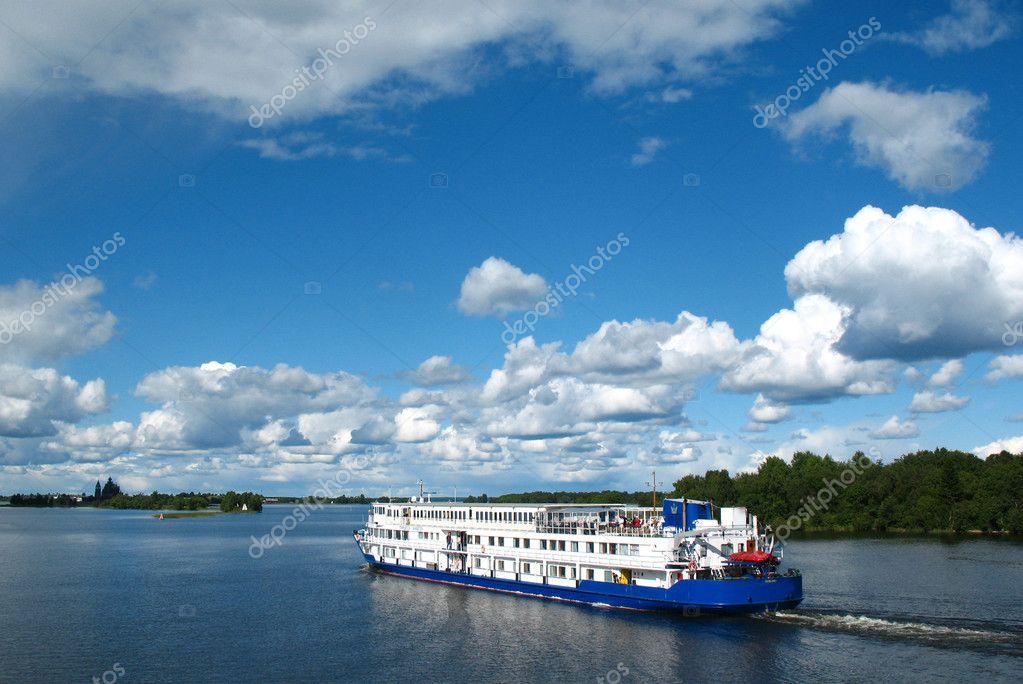 Onega lake. Archipelago of Kizhi