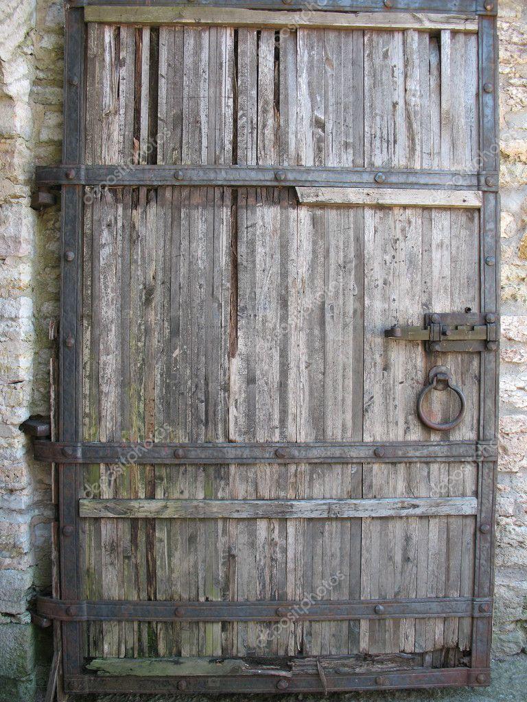 Old wooden door stock photo ilexcarrot 2471246 for Wooden entrance doors